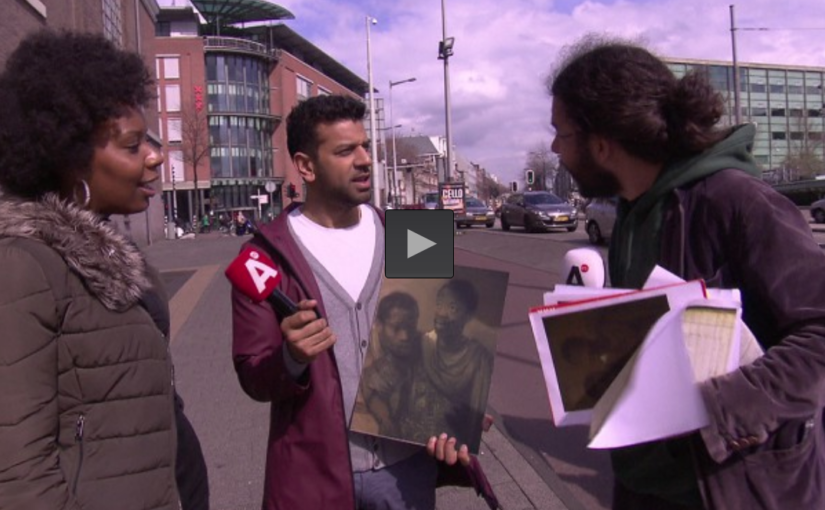 Afro-Amsterdammers in de Jodenbreestraat