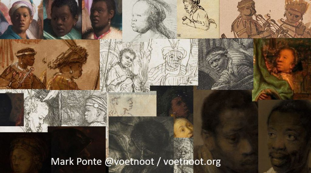 Collage van Afrikanen door Rembrandt