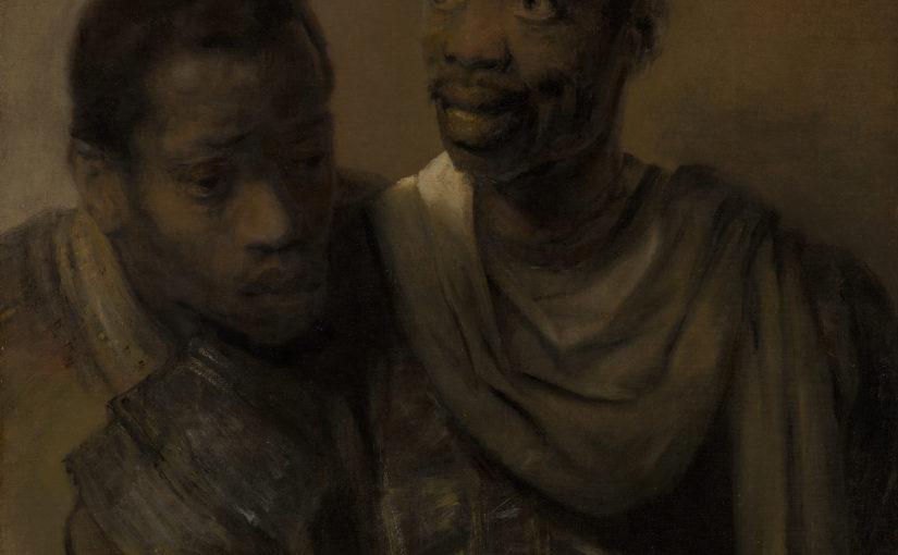 'Twee mooren in een stuck van Rembrandt' (1656)